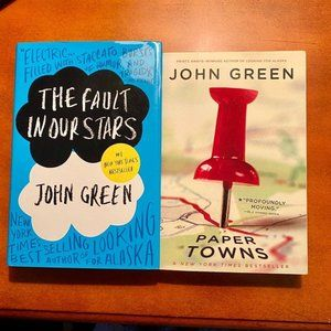 2 John Green Books Fault in Stars and Papertown